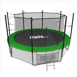 Батут UNIX line inside (green), 12 ft