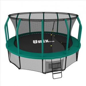 Батут UNIX line SUPREME (green), 12 ft