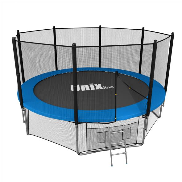 Батут UNIX line outside (blue), 10 ft