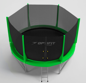 Батут Optifit Jump 14 ft (зеленый)